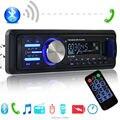 2016 chegada nova car radio player apoio mãos livres BLUETOOTH o telefone USB SD AUX em 12 V 1 din áudio estéreo mp3 frete grátis