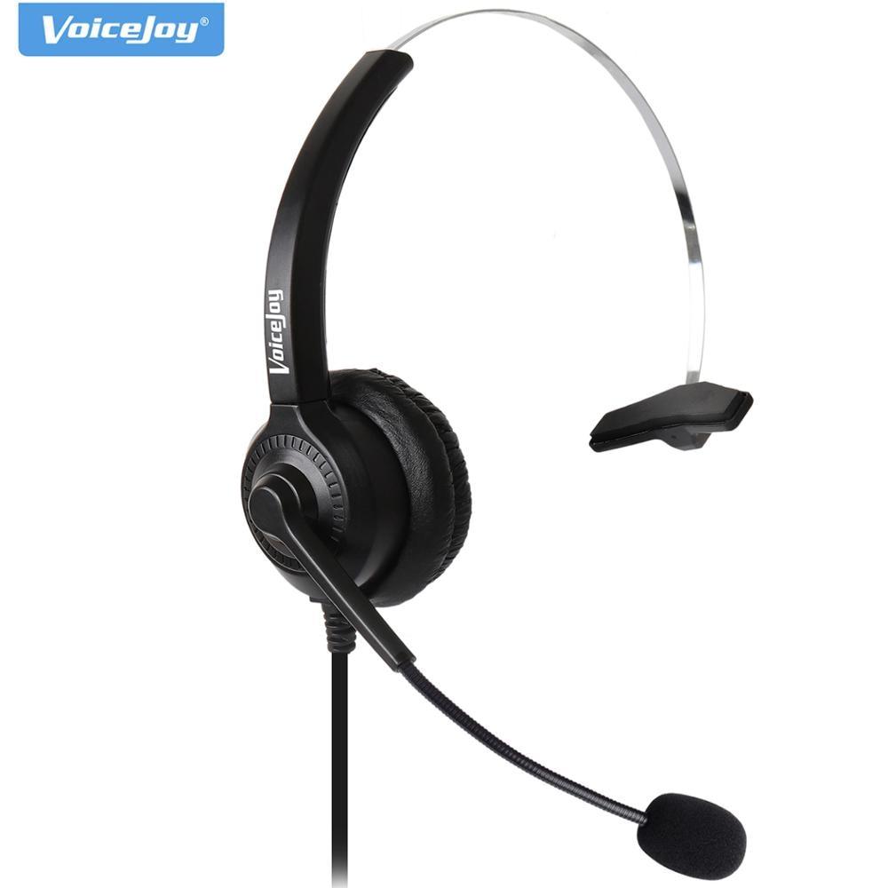 RJ9 rj11 headset call center desk phone RJ9 Headset Headphone With Microphone Headband Earphone noise canceling headset