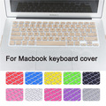 Fashion Colorful US version English language Silicone keyboard cover for macbook air 11 inch Protector Sticker film