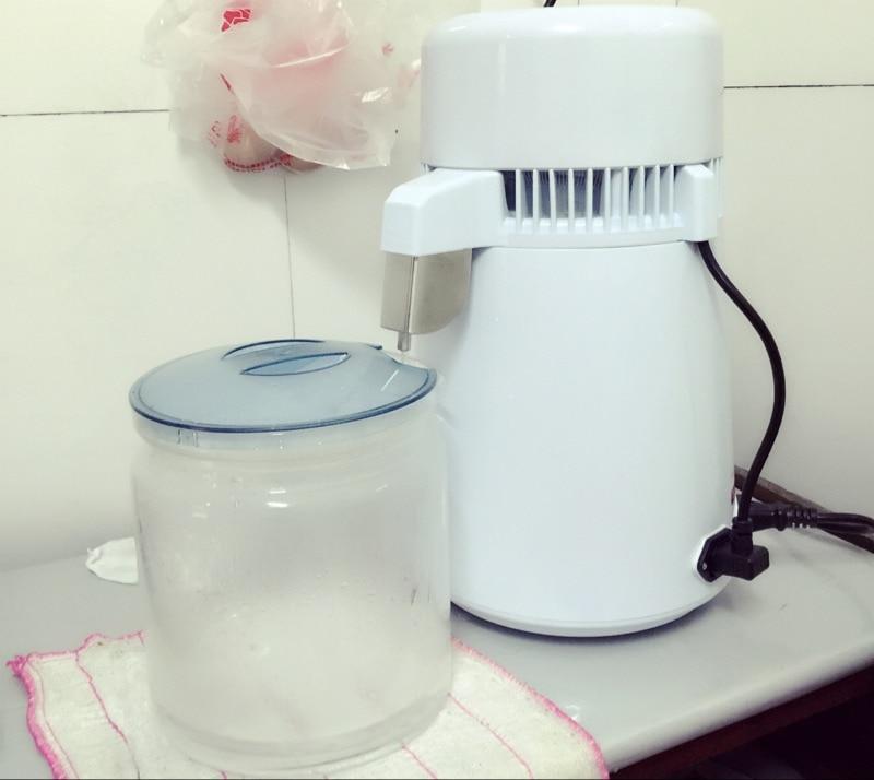 Acier inoxydable distillateur d'eau des ménages dentaire pur eau distiller alcool distillation de l'eau machine avec bouteille en verre