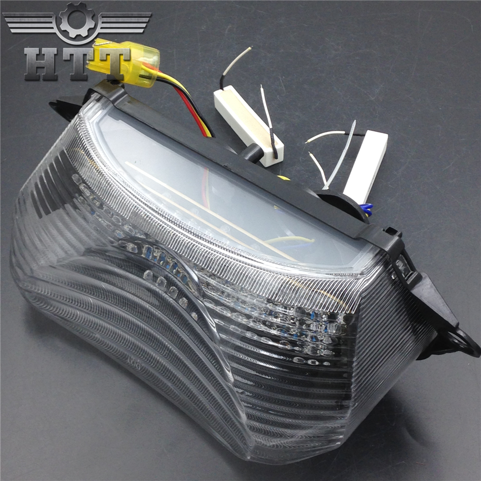 Aftermarket free shipping motorcycle parts LED Tail Light Turn Signal for Honda 1998-2005 Super Hawk VTR1000 VTR1000F Clear aftermarket free shipping motorcycle parts led tail brake light turn signals for honda 2000 2001 2002 2006 rc51 rvt1000r smoke