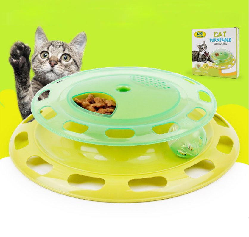 Pet Gattino Gatto Giocattolo Interattivo Giradischi Pet Giocattolo Palla Formazione Piastra Divertimento Pazzesco Disco