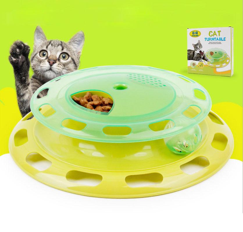 Cat Kitty Cat Toy Interactive Turntable Pet Toy Training Pllaka - Produkte për kafshet shtëpiake - Foto 1