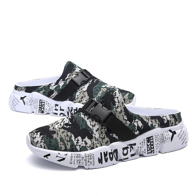 New Lightweight Soft Slippers Man Beach Sandals Summer Men's Camouflage Design Roman Outdoor Slippers Elastic Casual Shoes 4
