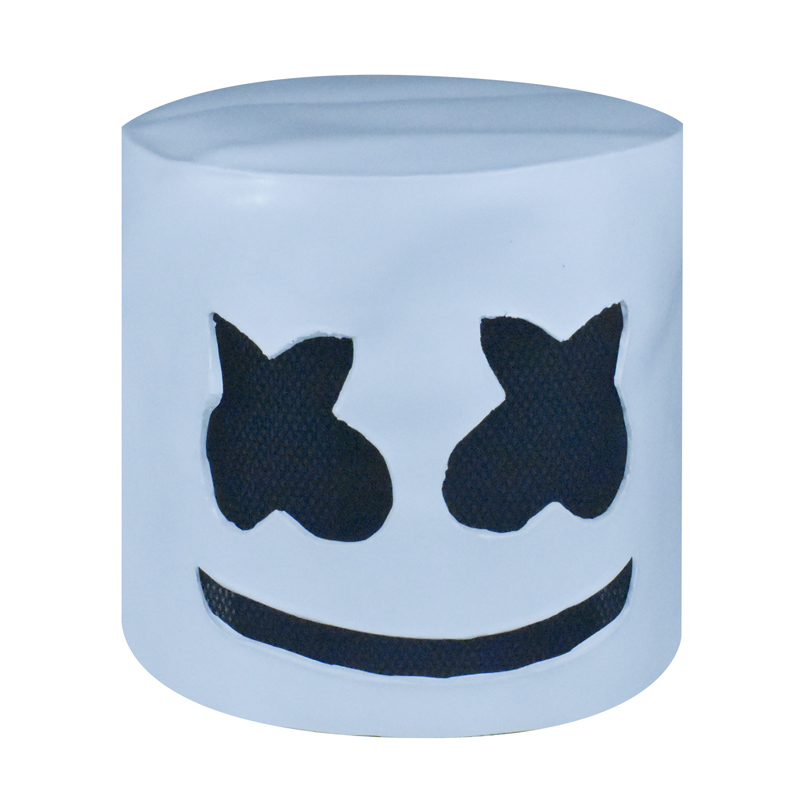 Full Face Cosplay Costume DJ Marshmello Mask Carnaval Halloween Prop Latex Masks Headdress Accessories