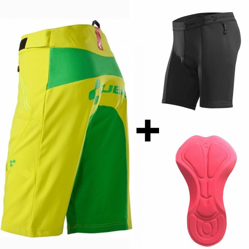 Prix pour Saenshing Cube Vélo Shorts Hommes Descente Vtt Shorts 3D Capitonné Vélo Sous vélo vtt shorts bermuda ciclismo