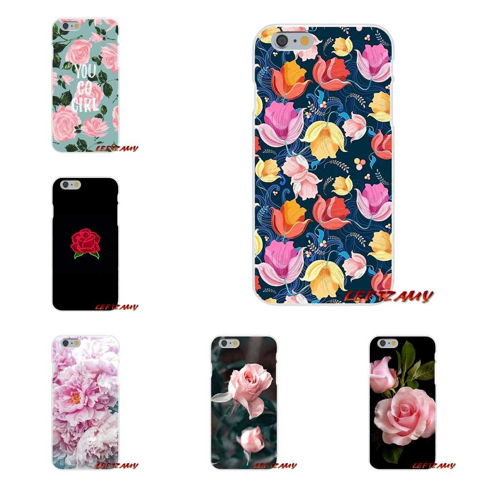Accessories Phone Shell Covers For Sony Xperia Z Z1 Z2 Z3 Z4 Z5 compact M2 M4 M5 E3 T3 XA Aqua flower Roses peony painted