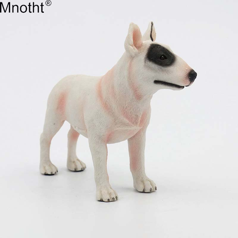 Mnotht 1/6 Bull Terrier Dog Model Model Anmial Dog Pet Sculpture - Խաղային արձանիկներ - Լուսանկար 1