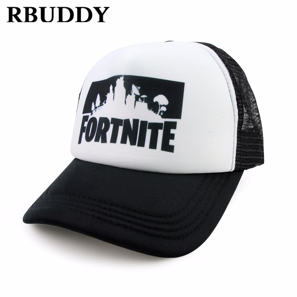 RBUDDY Fortnite 3D Print Baseball Caps Hip Pop Streetwear Snapback Summer Trucker Dad Hat for Women Men Gift Outdoor Mesh Hats 2018 cc denim ponytail baseball cap snapback dad hat women summer mesh trucker hats messy bun sequin shine hip hop caps casual