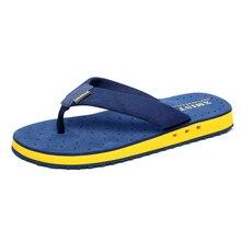 באיכות גבוהה החלקה גדול גודל כפכפים גברים קיץ חוף כפכפים גברים מותג אופנה לנשימה מזדמנים גברים נעלי בית שחור