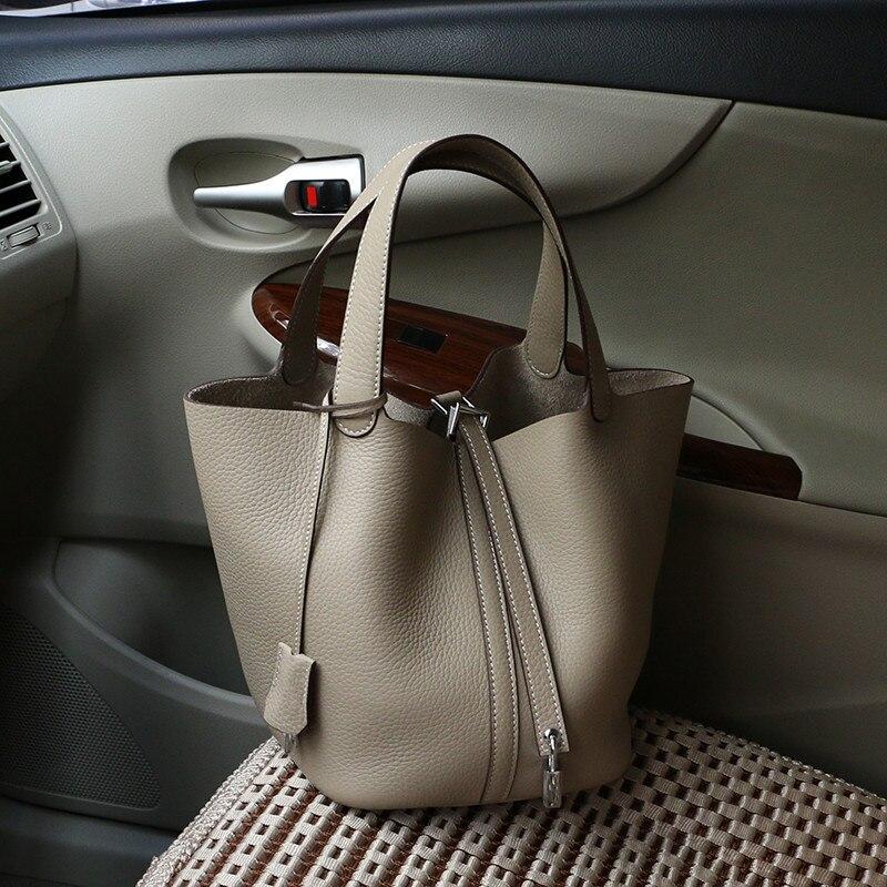 Leather Women Shoulder Bag Designer Handbag Ladies Top-handle Bag Fashion Bucket Shoulder Handbags Bolsas Feminina Bolso Mujer   : 91lifestyle