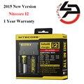 2015 nova versão nitecore i2 carregador de bateria aaa 26650 22650 18650 carregador de bateria aa 17670 18490 inteligente controlado