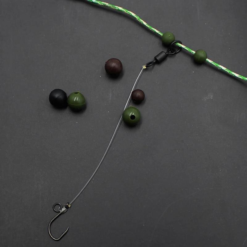 Rig Beads Carp Terminal Tackle Camo Rubber Shock Beads 6mm Buffer Beads