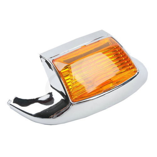 Chrome Orange Front Fender Tip Light For Harley FLSTC Heritage Softail Classic FLSTC Electra Glide FLSTC FLHR FLHS FLHT FLT
