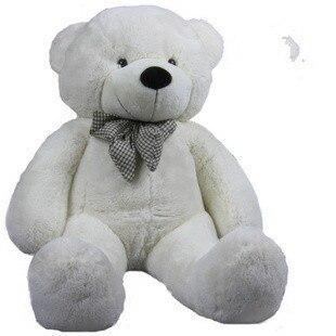 stuffed animal plush 80cm cute teddy bear  white plush toy throw pillow w946
