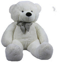 stuffed animal plush 80cm cute teddy bear white plush toy throw pillow w946