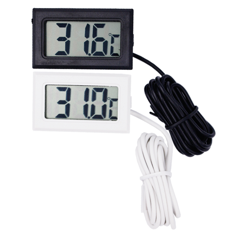 by dhl/ fedex 300pcs/lot Mini Digital LCD water  Thermometer Temperature Sensor Fridge Freezer black white 15%Off