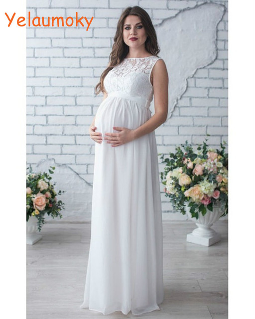 sleeveless Photography maternity lace dress props photo shooting ...