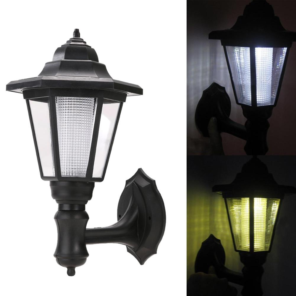 cool outdoor lighting. modern led solar garden light outdoor waterproof wall lamp hexagonal lighting cool warm