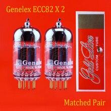 2шт Genalex-Gold Lion 12AU7(ECC82/B749) золотые булавки вакуумная трубка для усилителя