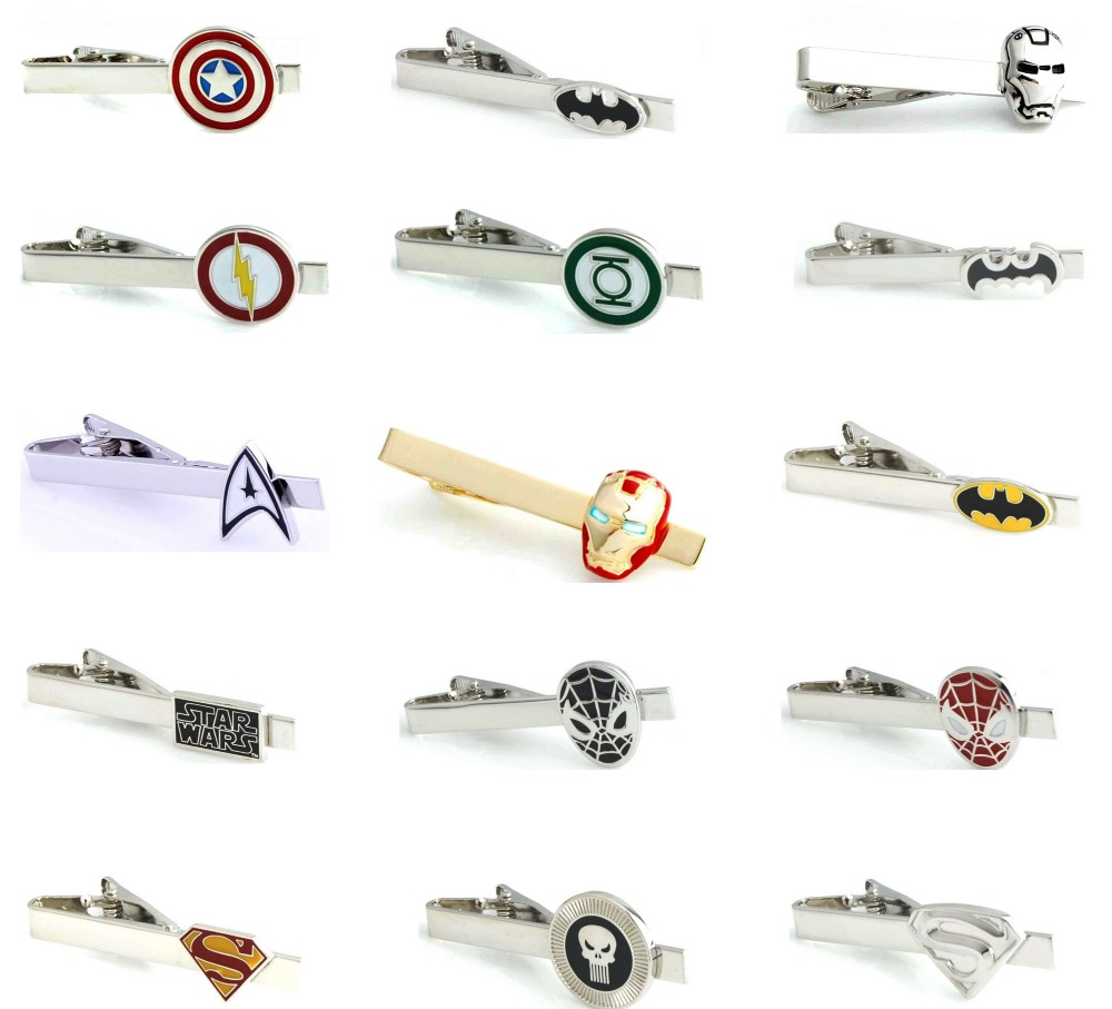 Igame Tie Clips Tie-Pins Superheroes-Design Option Novel Whoelsale Men Copper Retail