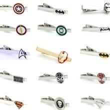 IGame мужские зажимы для галстуков различные варианты дизайна новые Супергерои дизайн медный материал Мужские булавки для галстука и розничная