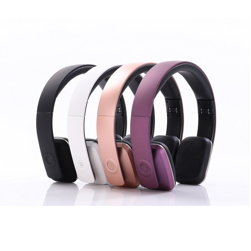 Wired Wireless Headset Stereo Headphone Bluetooth with 3.5mm Line in Headband Earphone Foldable Music Earphones with Microphone
