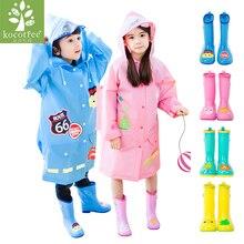 Kocotree Brand Children Raincoat Mating Rain Boots Kids Rain Shoes