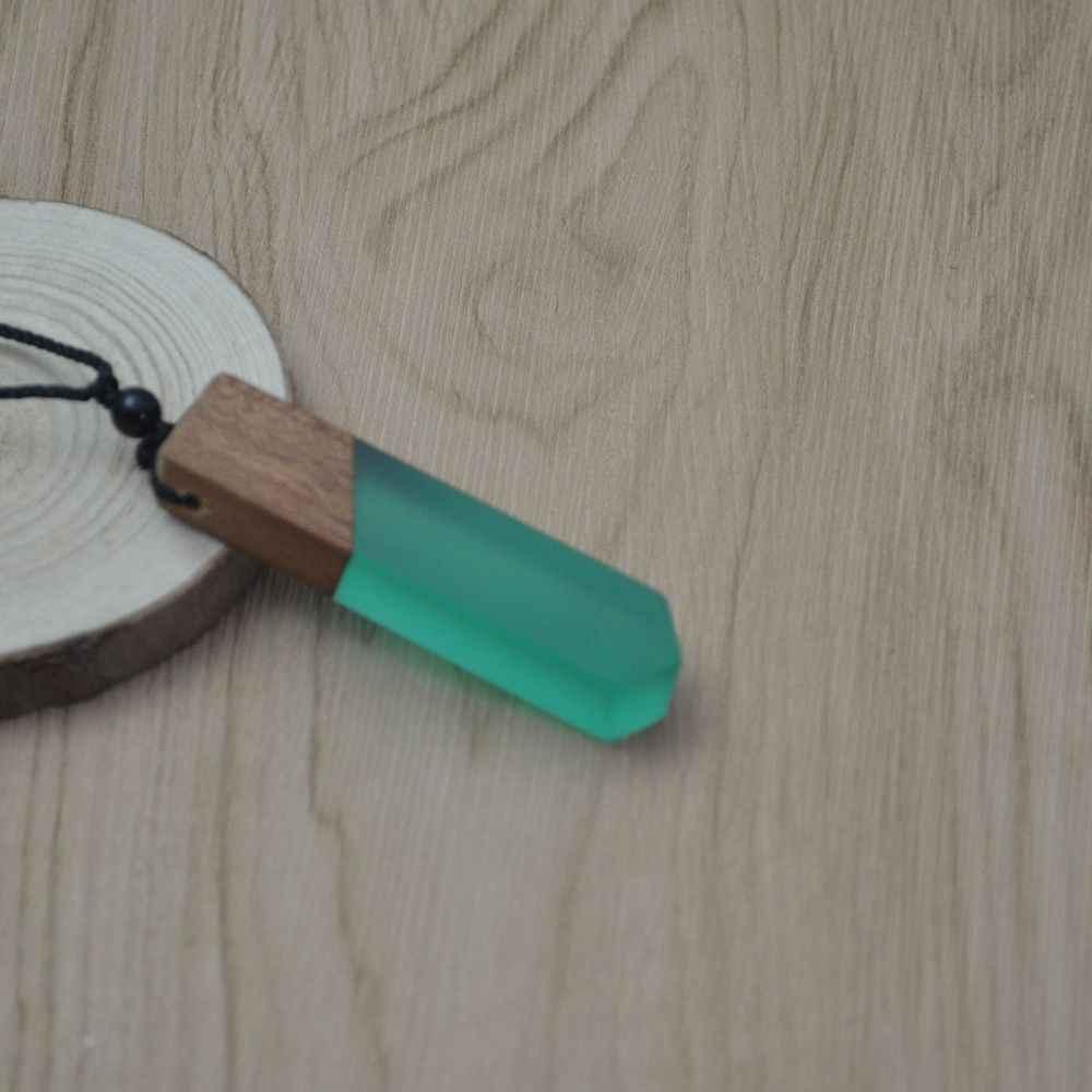 Leanzni خمر men'woman s المألوف قلادة خشبية من الراتنج قلادة ، المنسوجة حبل سلسلة ، هدايا مجوهرات الأكثر مبيعا