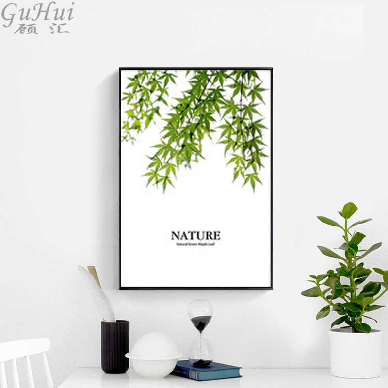 Nordic Forest Canvas Painting Trees Nature Wall Pictures Green Leaves Modern Home Room Decorative Landscape Art Posters Print