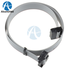 70CM 10 Pin USBISP USBASP JTAG AVR Download Wire 10P Ribbon Cable 2.3ft 2.54mm Female to Female