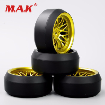 4Pcs/Set 1/10 Scale RC Drift Tires and Wheel Rims with 6mm Offset and 12mm Hex fit Car Model Toys Accessory image