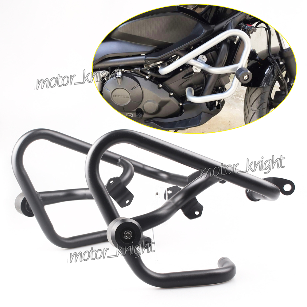 Modification Sport Trick <font><b>Crash</b></font> <font><b>Bar</b></font> Engine Guards Protector W/Side <font><b>Crash</b></font> Slider For <font><b>Honda</b></font> NC750 X NC700 S <font><b>NC700X</b></font> NC750S 2012-17 image
