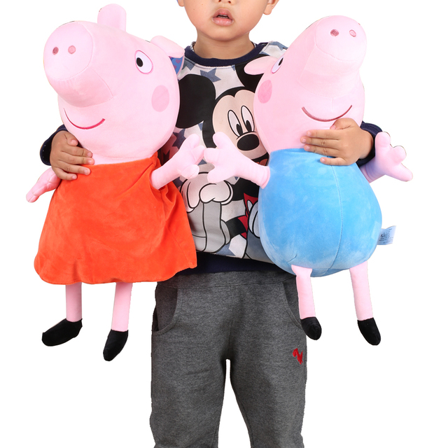 """Original 46CM/18"""" Big Size Peppa Pig Family Friends Plush Toys Early Educational Toys For Child Girls Boys Birthday Xmas Gifts"""