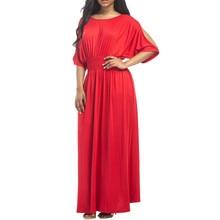 ilstile 2017 Summer Women s Sexy Casual Long Maxi Dress Batwing Sleeve Big  Hem Evening Party Fashion Dress Abaya Plus Size M-3XL 919759da5e45