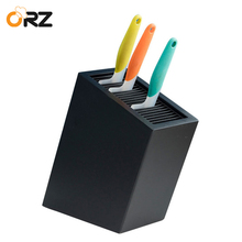 ORZ Universal Kitchen Knife Holder Knives Block Stand Black Storage Box Multifunctional Tools Organizer