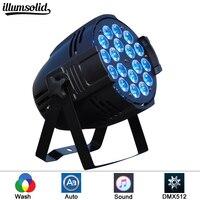 Aluminum shell LED Par 18x12W RGBW LED Par led spot light dj projector wash lighting stage lighting