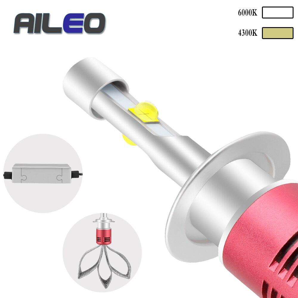 AILEO 車のヘッドライトの球根 h4 led h1 h7 H11 h8 h9 9005 9006 9012 hb3 hb4 9007 9008 H13 4300 18K 6000 18K オート led 60 ワット XHP50 8000LM  グループ上の 自動車 &バイク からの 車のヘッドライトの球 (LED) の中 1