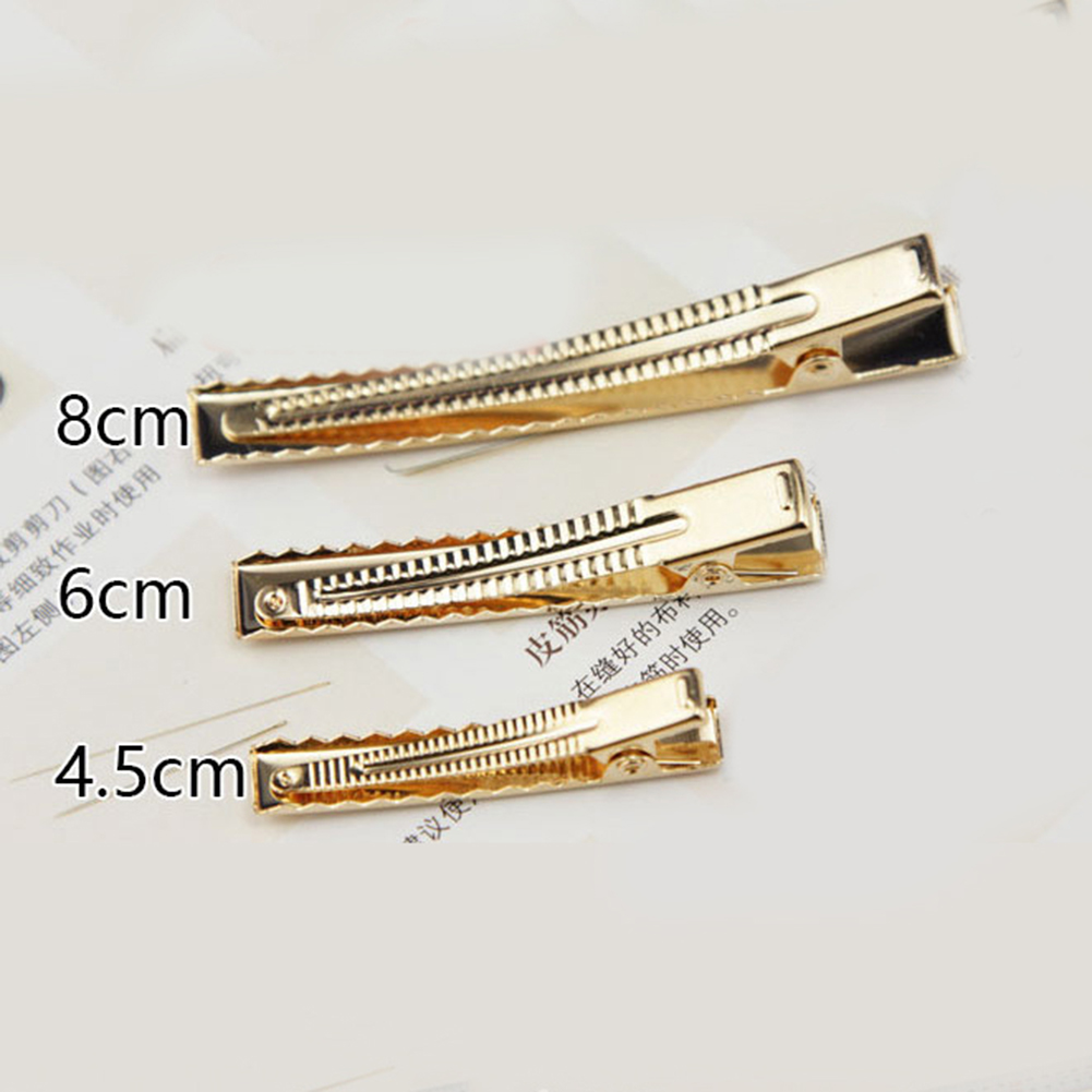 10Pc Diy Solid Casual Hair Accessories 4.5Cm/6Cm/8Cm Single Prong Metal Alligator Hairpins Summer New Fashion Barrette Hot Sale