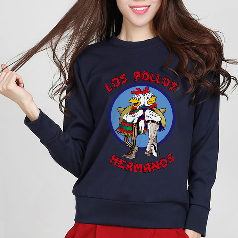new high quality sweatshirt chicken brothers sweatshirts sitcoms O-neck cotton tracksuit rock breaking brand women hoodies