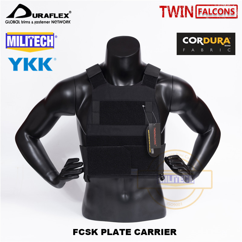 MILITECH TW FCSK Slickster BK CQC MOLLE Plate Carrier Military Combat Assault Tactical Vest Police Body Armor Plate Carrier