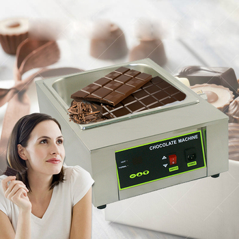 ITOP Electric Chocolate Melting Machine Stainless Steel Commercial Chocolate Melting Pot 8KG Capacity 1 Lattices hot sale commercial mini kitchen appliance table counter top 5 liter chocolate melting machine for drink dispenser
