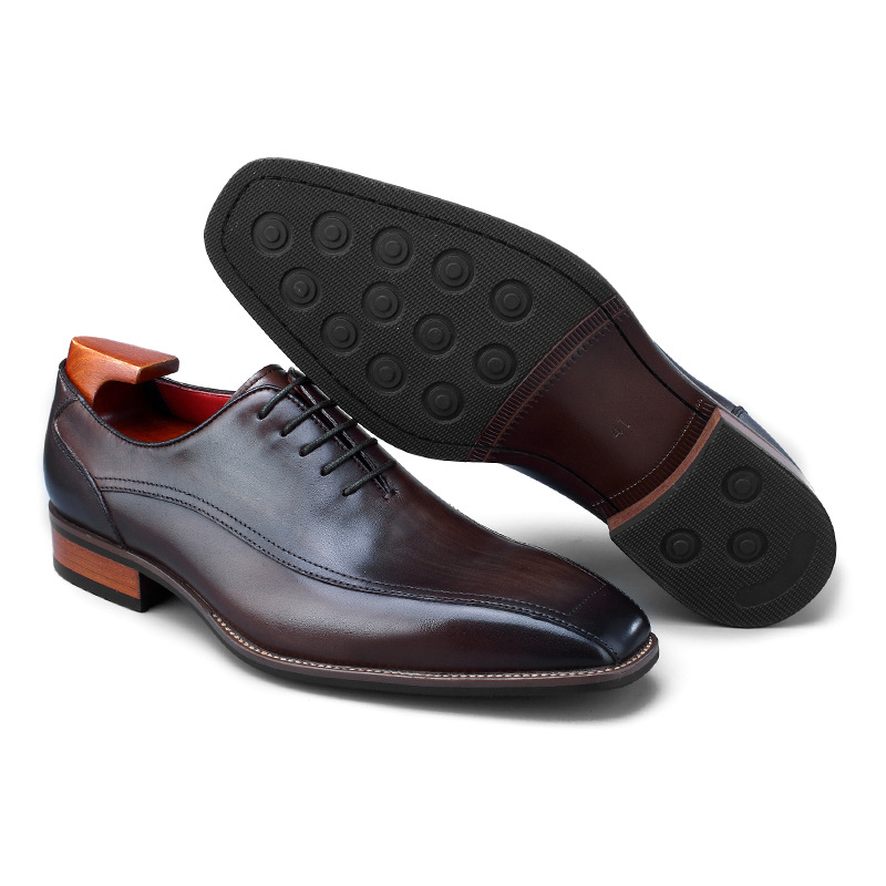 QYFCIOUFU Hot Handmade Classic Italian Shoes Men Fashion Party Office Wedding Dress Shoe Male Genuine Leather Men Oxford Shoes in Formal Shoes from Shoes