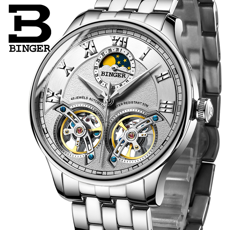 Switzerland Mechanical Men Watches Binger Role Luxury Brand Skeleton Wrist Sapphire Waterproof Watch Men Clock Male Men Watch switzerland mechanical men watches binger luxury brand skeleton wrist waterproof watch men sapphire male reloj hombre b1175g 3