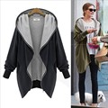 Europe and large size women fat mm autumn fertilizer to increase the fat sister was thin hooded zip cardigan jacket Spot