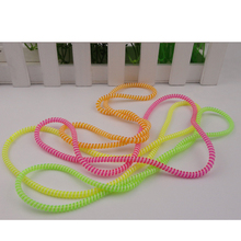 LJ-MILLKEYIn-Ear Data Cable Solid Color TPU Spiral USB Charger Cable Cord Protector Wrap Cable Winder Organizer Hair Ring L331