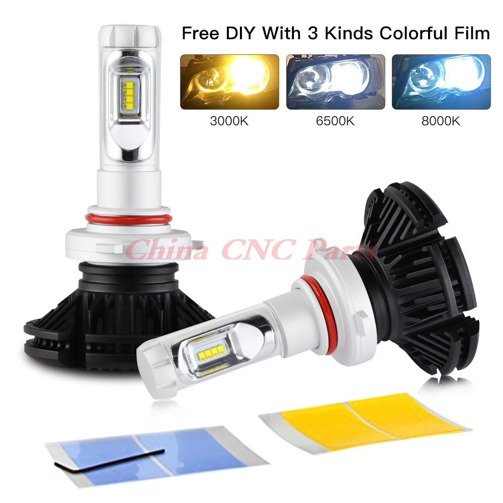 NICECNC H1 H3 H4 H7 H8 H13 9004 9005 9006 9007 9012 Adjustable LED Headlight Car Light Bulbs Kit H/Low Beam 50W Auto Headlamp