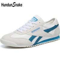 Hundunsnake White Leather Men's Sneakers Men Running Shoes Sports Shoes For Male Lightweight women Sport Shoes Men Krasovki T622