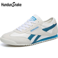 Hundunsnake White Leather Men's Sneakers Men Running Shoes Sports Shoes For Male Lightweight women Sport Shoes Men Krasovki T622