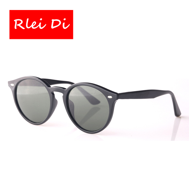 RLEI DI Highest Quality Fashion Retro Vintage Sunglasses Men Women Sunglasses Trend Round Style Sun Glasses Eyewear glass Lens